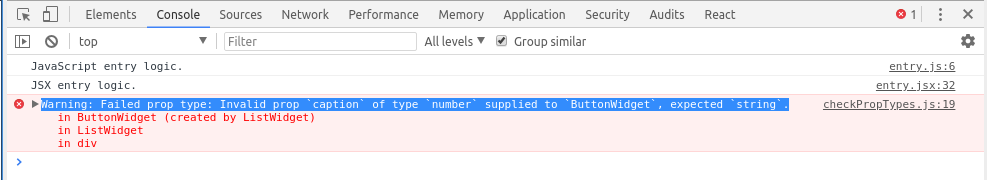 PropTypes warning when a number is passed for string.