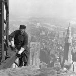 Construction worker on Empire State Building